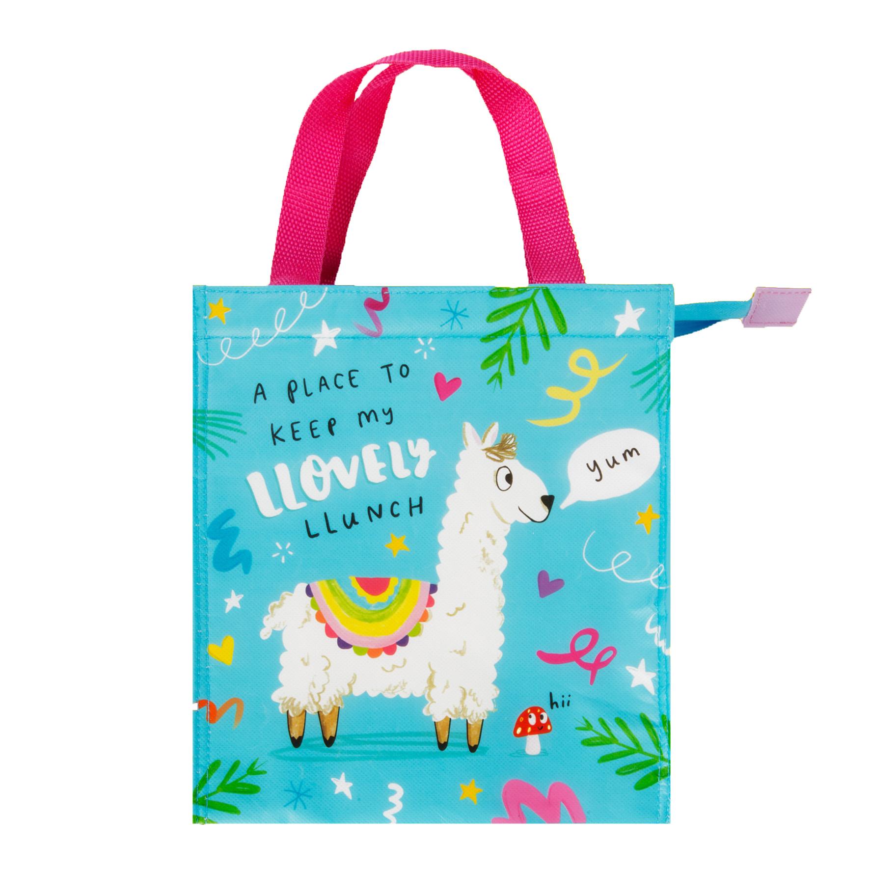 The Happy News Llama Snacks Bag by Emily Coxhead