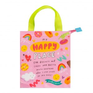 The Happy News Happy Place Snacks Bag by Emily Coxhead