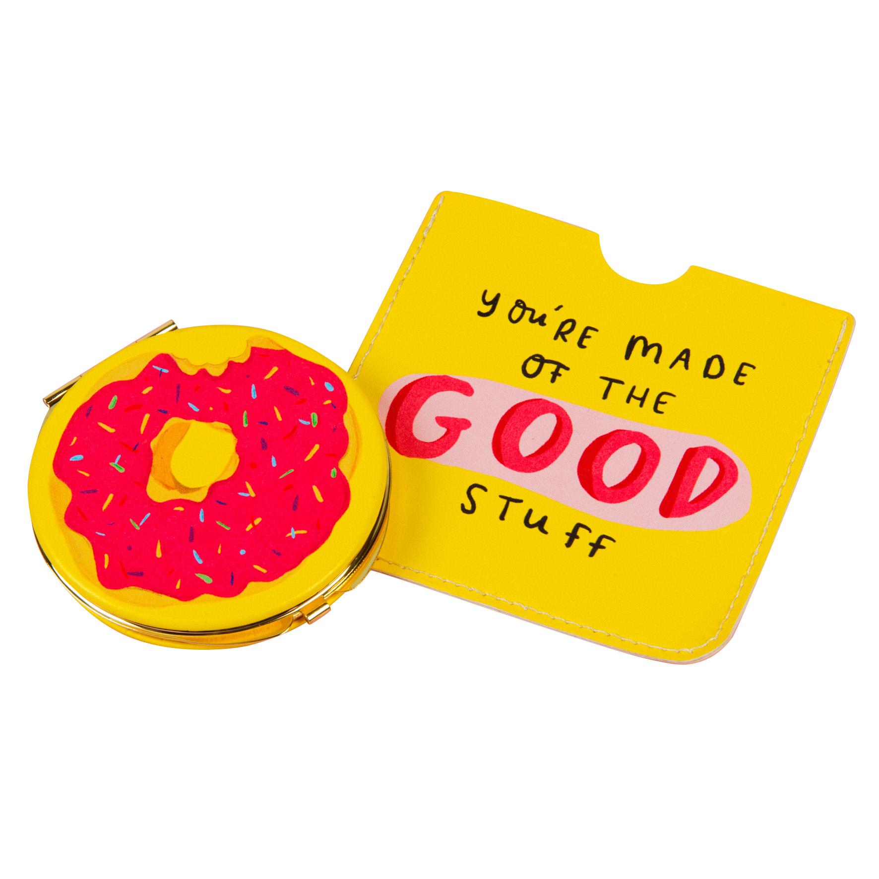 The Happy News Compact Mirror Donut