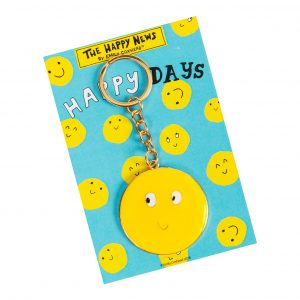 The Happy News Smiley Keyring by Emily Coxhead