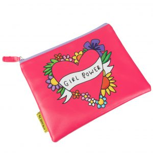 The Happy News Girl Power Make Up bag by Emily Coxhead