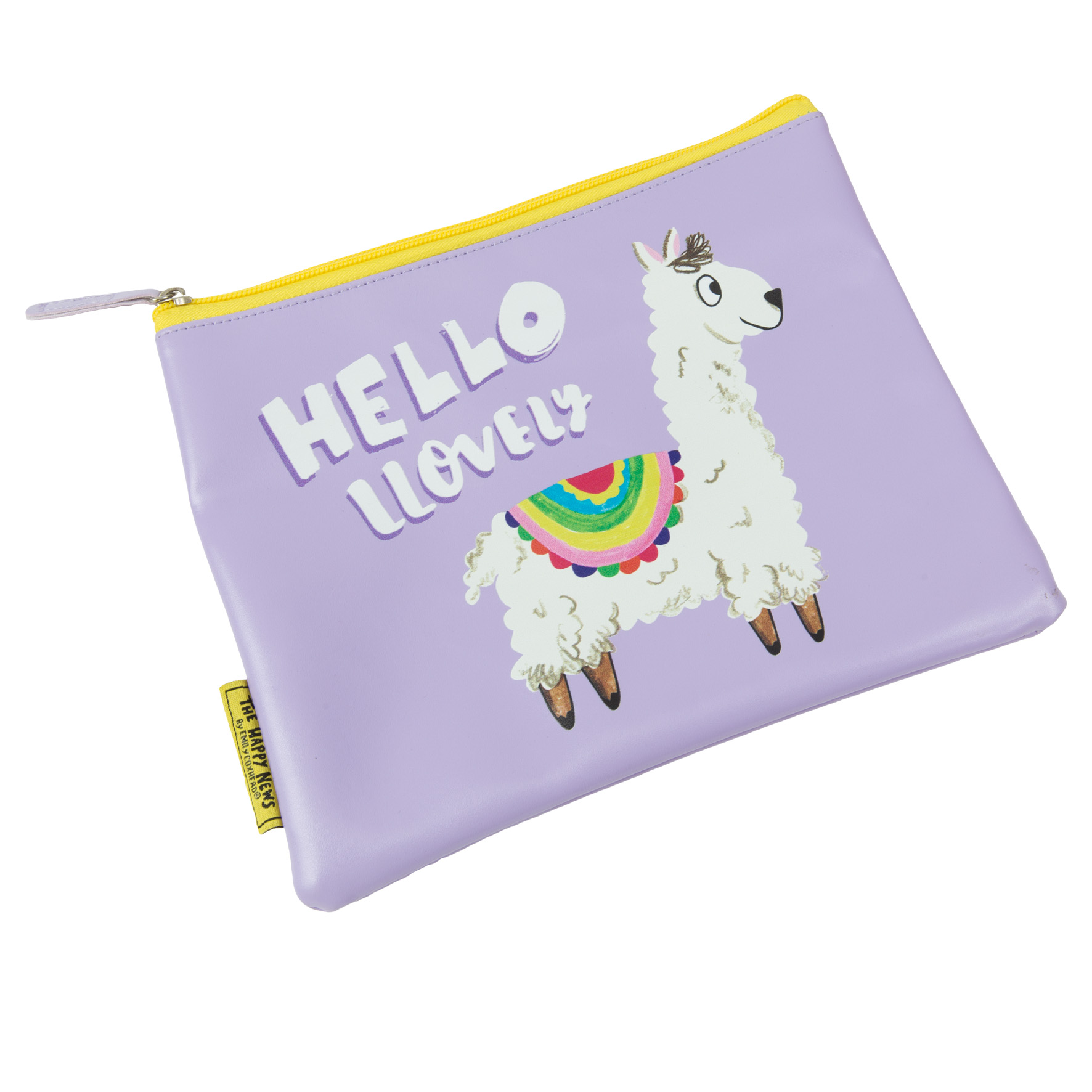The Happy News Llama Make Up bag by Emily Coxhead