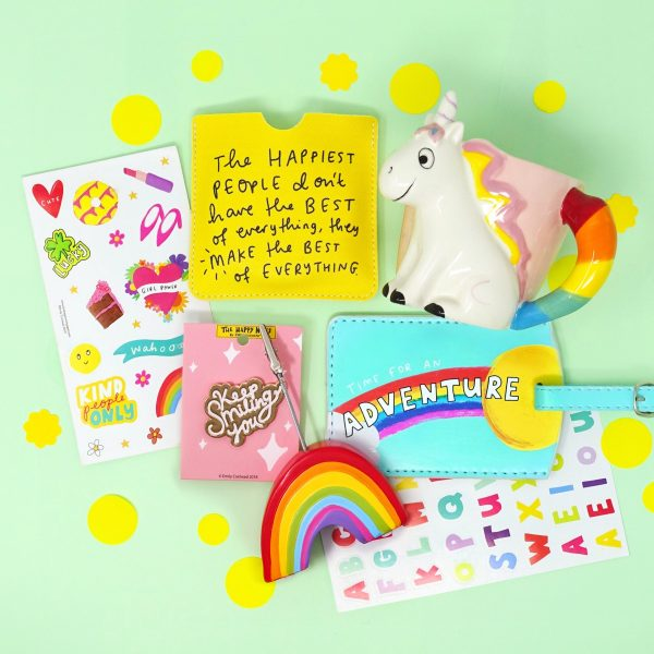 The Happy News range of products by Emily Coxhead