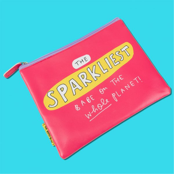 The Happy News Sparkliest Babe Makeup Bag by Emily Coxhead