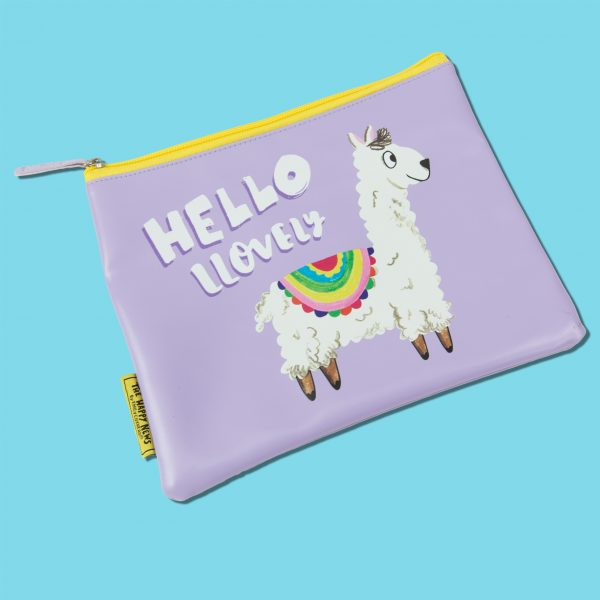 The Happy News Llama Makeup Bag by Emily Coxhead