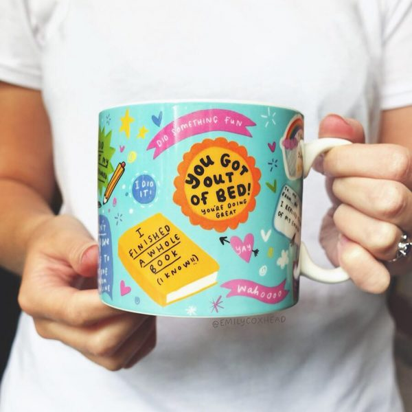 The Happy News Tiny Achievements Mug and Coaster Set