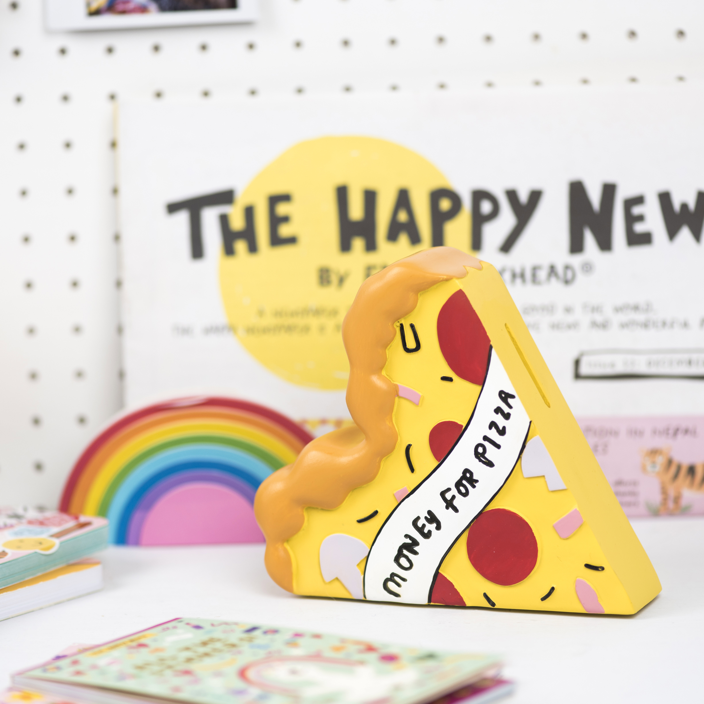 The Happy News Pizza Money Box