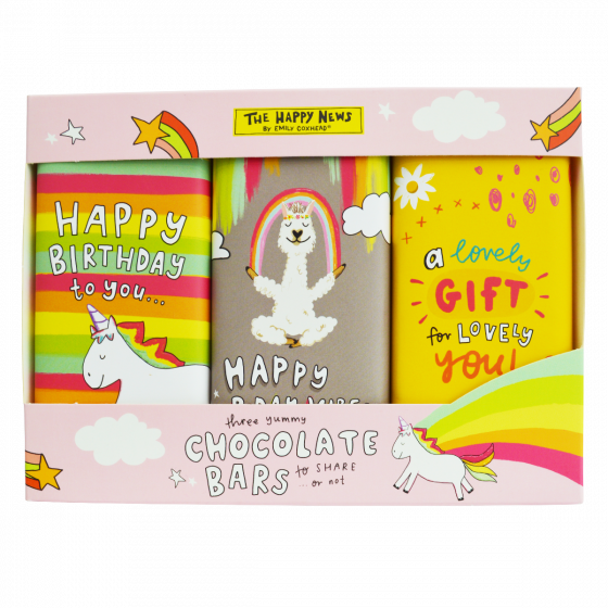 The Happy News Happy Birthday Chocolate Trio