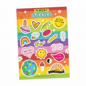 Rainbow sticker sheet from The Happy News