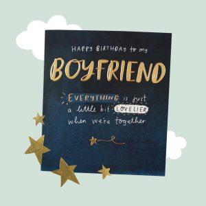 The Happy Newspaper Boyfriend Birthday Card