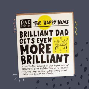 The Happy News Dad Birthday Card