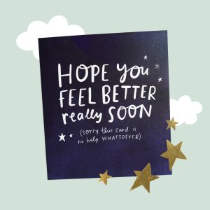 The Happy News Get Well Soon card