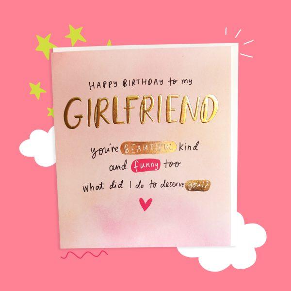 The Happy News Girlfriend Birthday Greeting Card