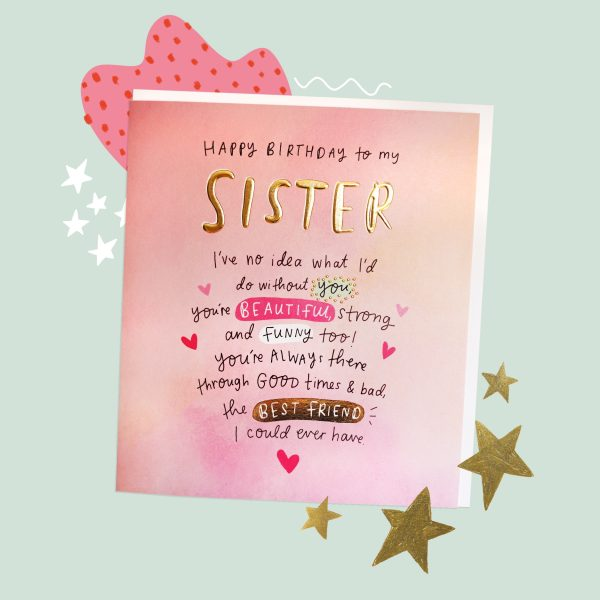 The Happy News Sister Greeting Card